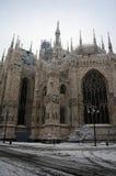 Bóveda de la catedral de Milano en invierno Imágenes de archivo libres de regalías