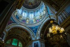 Bóveda de la catedral del ` s del St Isaac Fotografía de archivo