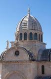 Bóveda de la catedral en Sibenik, Croatia de San Jaime. foto de archivo libre de regalías