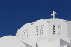 Bóveda de la catedral metropolitana ortodoxa en Fira fotografía de archivo