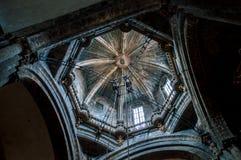 Bóveda de la catedral Santiago de Compostela Fotografía de archivo libre de regalías