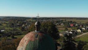 Bóveda de la iglesia católica almacen de video