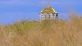 Bóveda de la iglesia en hierba almacen de video