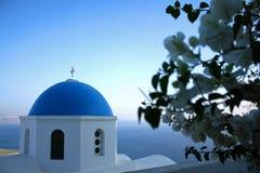 Bóveda de la iglesia en Santorini Fotografía de archivo libre de regalías