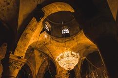 Bóveda de la iglesia medieval Imagen de archivo libre de regalías