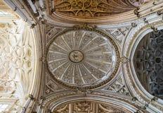 Bóveda de la mezquita de Córdoba Fotos de archivo libres de regalías