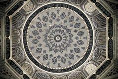 Bóveda de la mezquita, ornamentos orientales, Samarkand fotos de archivo