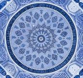 Bóveda de la mezquita, ornamentos orientales, Samarkand foto de archivo libre de regalías