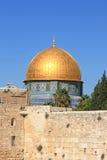 Bóveda de la roca en la ciudad vieja de Jerusalén Foto de archivo libre de regalías