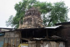 Bóveda de la tumba antigua Indore la India imagen de archivo