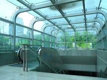 Bóveda de las escaleras móviles Foto de archivo