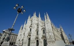 Bóveda de Milano imagenes de archivo