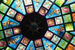 Bóveda de Oriente Medio del vitral Imágenes de archivo libres de regalías