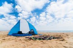 Bóveda de Sun en una playa Fotos de archivo libres de regalías