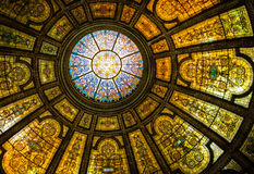Bóveda de Tiffany en el centro cultural fotos de archivo