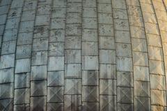 Bóveda de un observatorio durante puesta del sol Fotografía de archivo libre de regalías