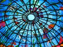 Bóveda del cristal de colores Foto de archivo
