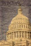 Bóveda del edificio del capitolio de Estados Unidos en Washington D C fotografía de archivo libre de regalías