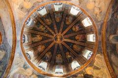 Bóveda del Parecclesion de la iglesia de Chora Imágenes de archivo libres de regalías