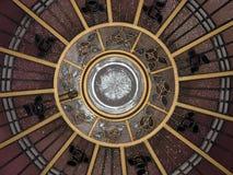 Bóveda del techo del art déco Imagen de archivo