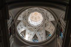 Bóveda en la iglesia, Monte Oliveto Maggiore, Toscana, Italia Foto de archivo libre de regalías