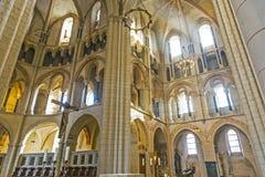 Bóveda gótica en Limburgo, Alemania en colores hermosos fotografía de archivo