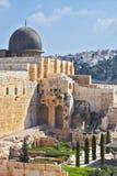Bóveda gris de la mezquita del al-Aqsa Foto de archivo