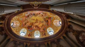 Bóveda pintada de Stift Klosterneuburg, Viena imagenes de archivo