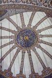 Bóveda principal de la visión de la mezquita azul imágenes de archivo libres de regalías