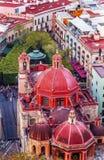 Bóveda roja Templo San Diego Jardin Guanajuato Mexico Foto de archivo libre de regalías