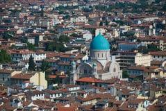 Bóveda verde Chruch en Florencia Imagen de archivo libre de regalías