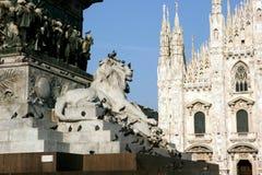 Bóveda y estatua, Italia de Milano Fotografía de archivo libre de regalías