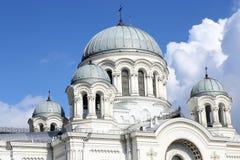 Bóvedas blancas de la iglesia católica Imagen de archivo libre de regalías