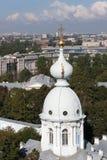 Bóvedas de la catedral de Smolny St Petersburg Imagen de archivo