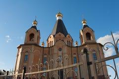 Bóvedas de una iglesia ortodoxa Fotografía de archivo libre de regalías