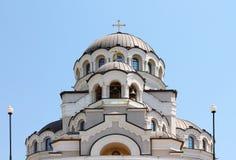 Bóvedas del templo cristiano Foto de archivo