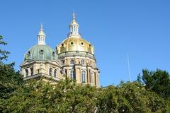 Bóvedas en el capitolio del estado de Iowa Fotografía de archivo libre de regalías