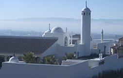 Bóvedas y alminar árabes de la mansión fotos de archivo