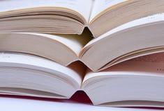 Böcker öppnar Fotografering för Bildbyråer