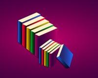 Böcker stock illustrationer