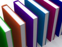 böcker 3d färgade Arkivfoto