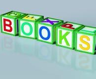Böcker blockerar showromanIcke-fiktion och läsning vektor illustrationer