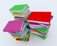 böcker färgade buntar Royaltyfri Fotografi