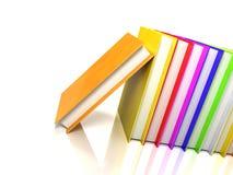 böcker färgade glansig white royaltyfri illustrationer