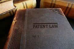 Böcker för patenterad lag Arkivbilder