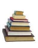 Böcker i bunt arkivbild