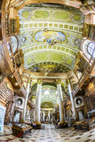 böcker i det härliga österrikiska nationella arkivet i Wien Royaltyfri Bild