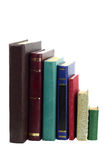 Böcker i rad royaltyfri foto