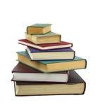 Böcker i stapel royaltyfria foton