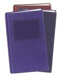 Böcker inbundna böcker som isoleras på vit Royaltyfri Fotografi